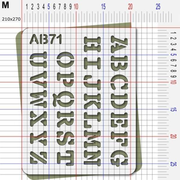 Pochoir lettres majuscules - Photo n°4