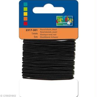 Fil élastique Noir 1 mm - 5m