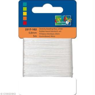 Fil élastique Blanc 1 mm - 5m