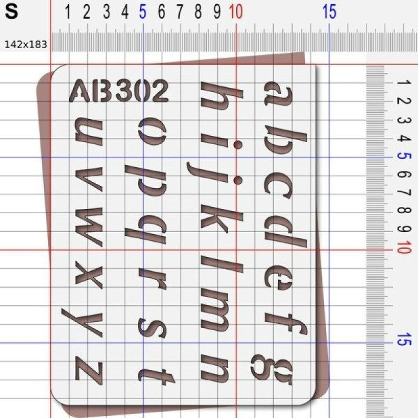 Pochoir lettres minuscules - Photo n°3
