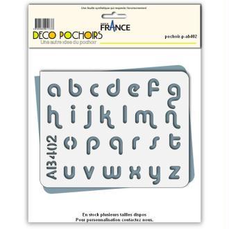 Pochoir lettres minuscules