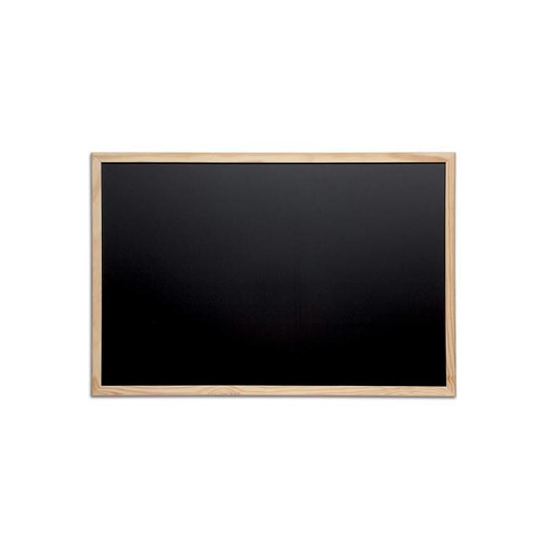 Tableau noir avec cadre en bois 800 x 600 mm tableau magn tique - Tableau avec papier peint ...
