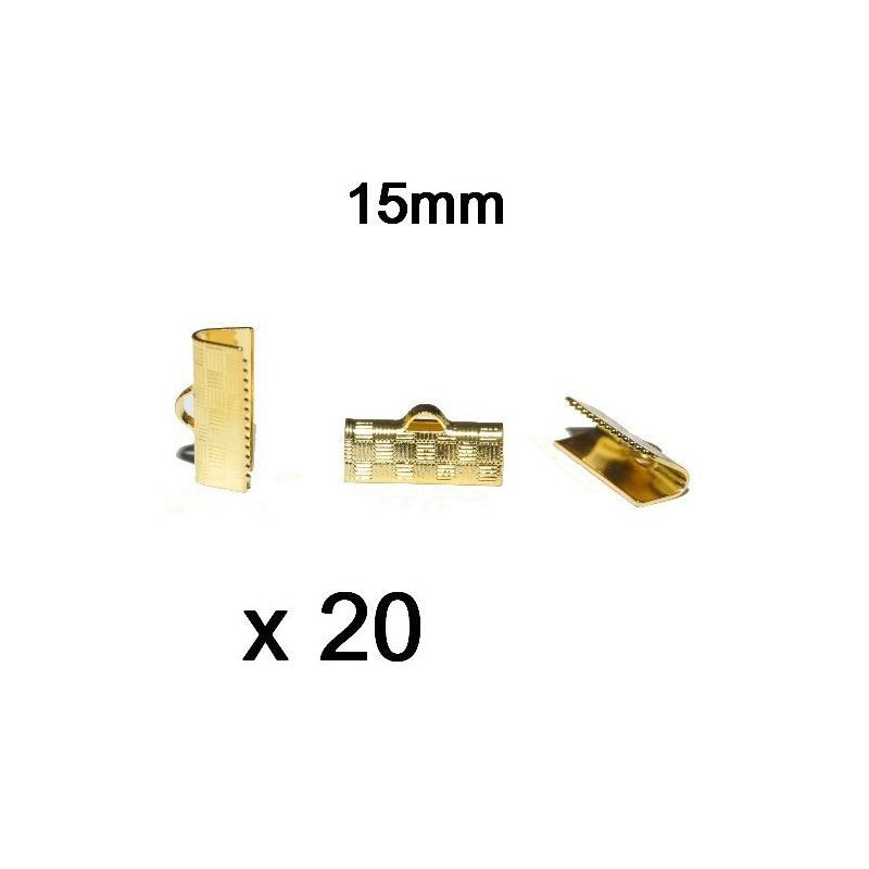 20 serre fils pour ruban couleur or dor 15mm project - Meilleur couleur pour cuisine ...
