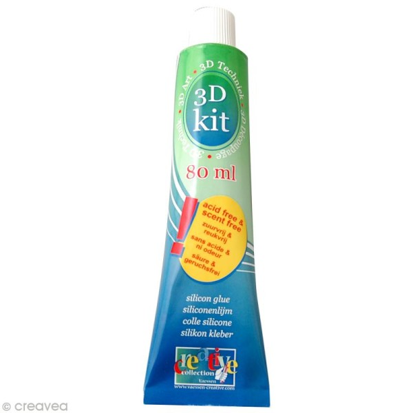 Colle 3D silicone 80 ml sans acide - Photo n°1
