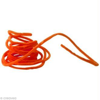 Fil chenille 8 mm Orange x 5 mètres