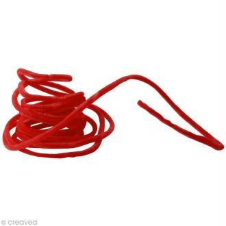 Fil chenille 8 mm Rouge x 5 mètres