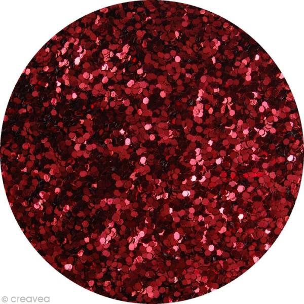 Gros pot de paillettes - Rouge - 400g - Photo n°2