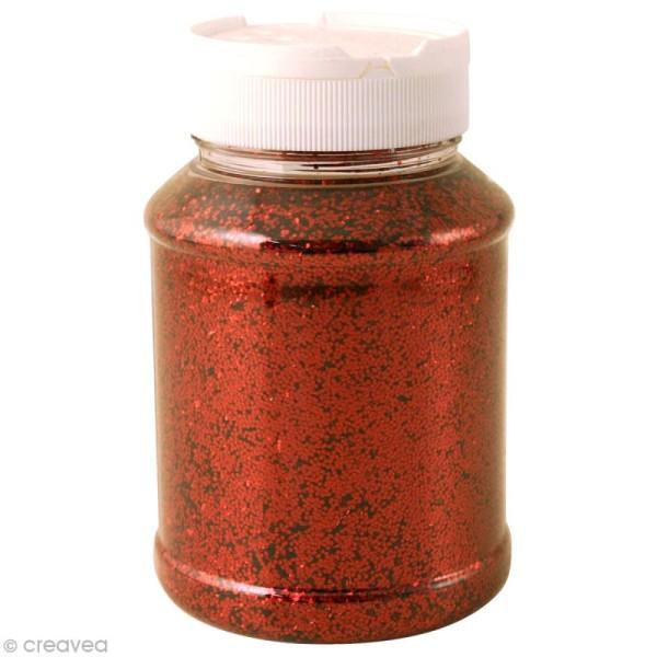 Gros pot de paillettes - Rouge - 400g - Photo n°1