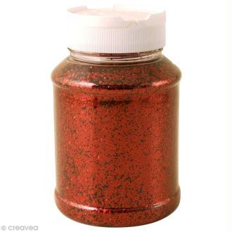 Gros pot de paillettes - Rouge - 400g