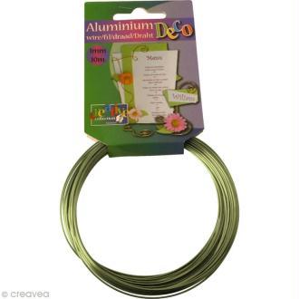 Fil aluminium 1 mm Vert menthe x 10 mètres