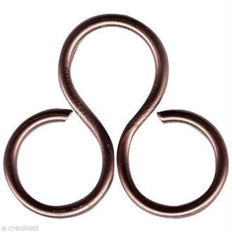 Fil aluminium 2 mm Marron chocolat x 5 mètres