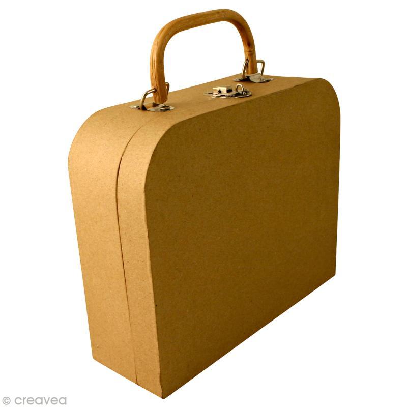 valise d corer en papier m ch objets divers d corer creavea. Black Bedroom Furniture Sets. Home Design Ideas
