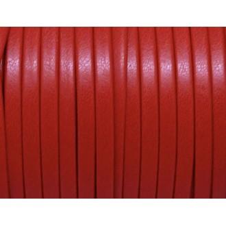 1m Lanière Simili Cuir 3mm De Couleur Rouge Vif , Rouge Tomate Très Belle Qualit&eacu