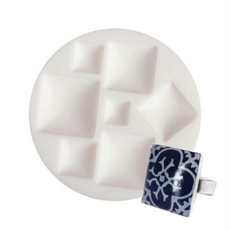 Moule en silicone 7 motifs miniatures Cabochons Carrés de 7cm extra flexible