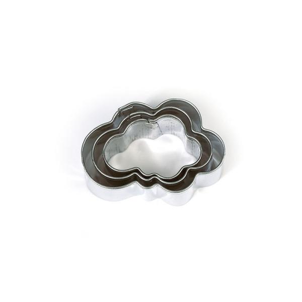 Lot de 3 minis emporte-pièces Nuages en Inox alimentaire, Diamètre  2,3,4 cm - Photo n°1