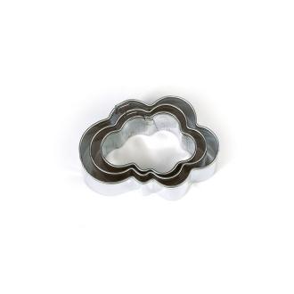 Lot de 3 minis emporte-pièces Nuages en Inox alimentaire, Diamètre  2,3,4 cm