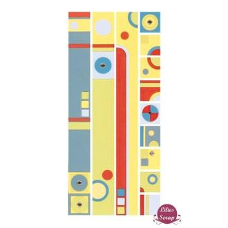 Stickers en vélin bordures circle sampler Pebbles Inc 30 x 13 cm