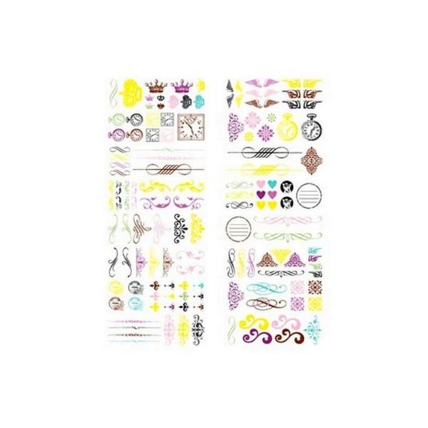 Livret de 133 rub-ons Ornements scrapbooking 18 cm x 5,6 cm - Photo n°1