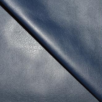 Tissu simili cuir bleu bleu marine stretch / faux cuir bleu marine (par multiples de 20cm)