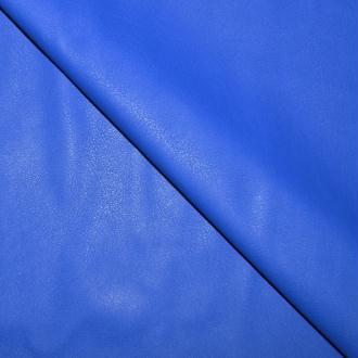Tissu simili cuir bleu électrique stretch / faux cuir bleu électrique (par multiples de 20cm)