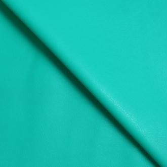 Tissu simili cuir vert menthe stretch / faux cuir vert menthe (par multiples de 20cm)