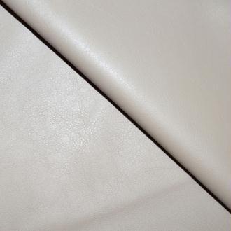 Tissu simili cuir beige stretch / faux cuir beige (par multiples de 20cm)