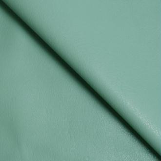 Tissu simili cuir vert d'eau stretch / faux cuir vert d'eau (par multiples de 20cm)