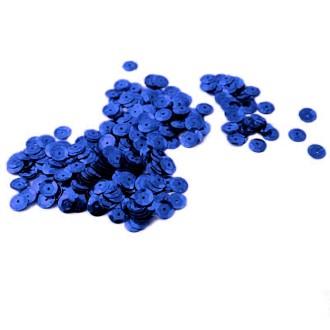 Sequin cup 6 mm Bleu violet métallisé +/- 500