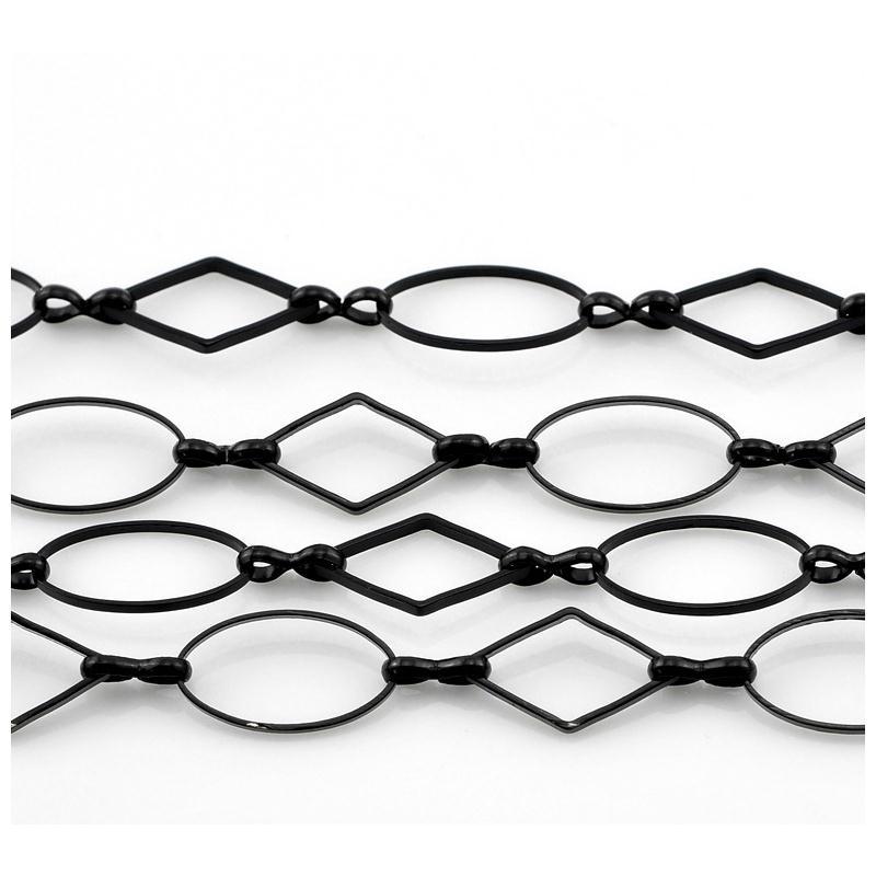 1 metre de chaine noire en cuivre sans cadmium gros for Accessoire cuisine en ligne
