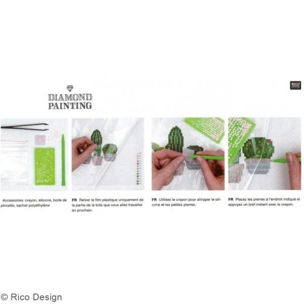 Kit broderie Diamond painting - Fleurs - 10,5 cm - Photo n°3
