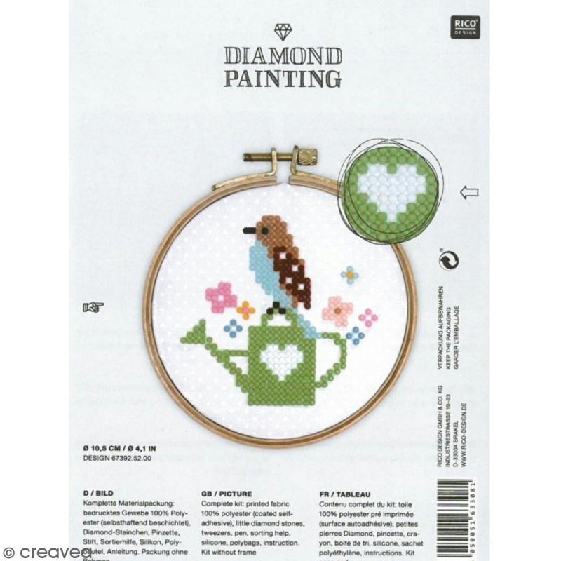 kit broderie diamond painting oiseau 10 5 cm diamond. Black Bedroom Furniture Sets. Home Design Ideas