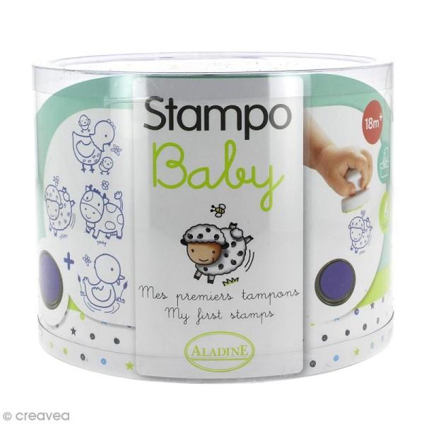 Tampons Stampo'baby Ferme - 4 pcs + 1 encreur - Photo n°1