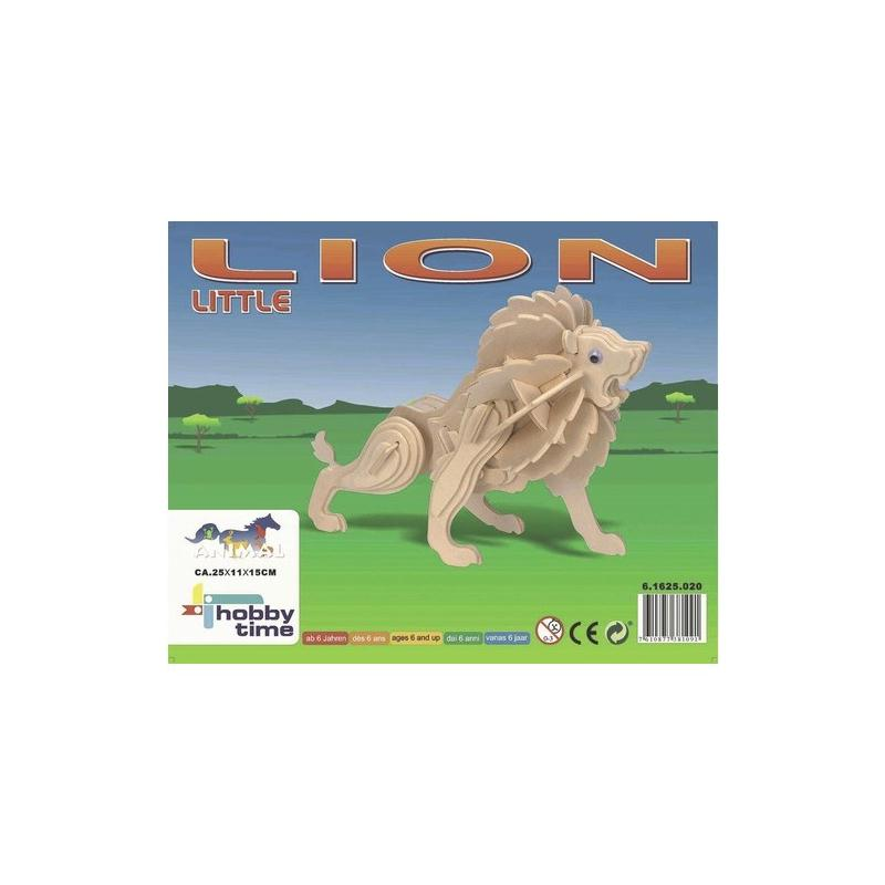 Kit de construction en bois lion kit maquettes bois et for Bois construction exterieur