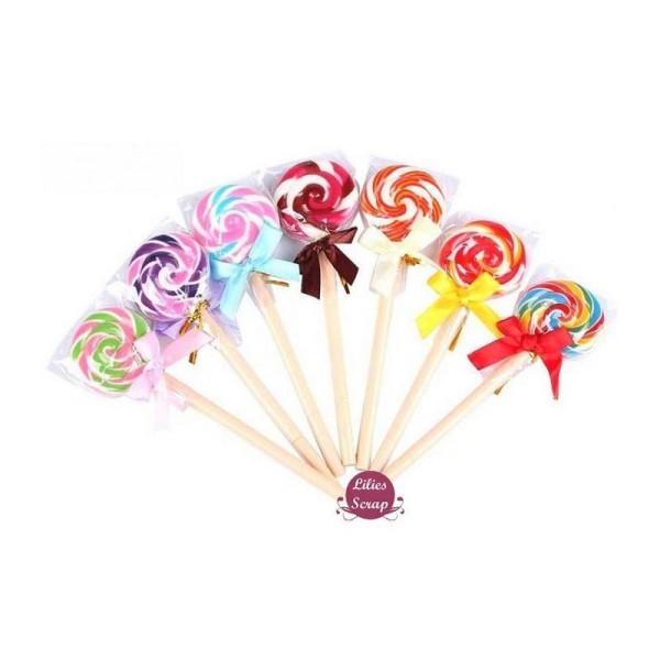 Adorable stylo à bille sucette lollipop 15 cm - Photo n°1
