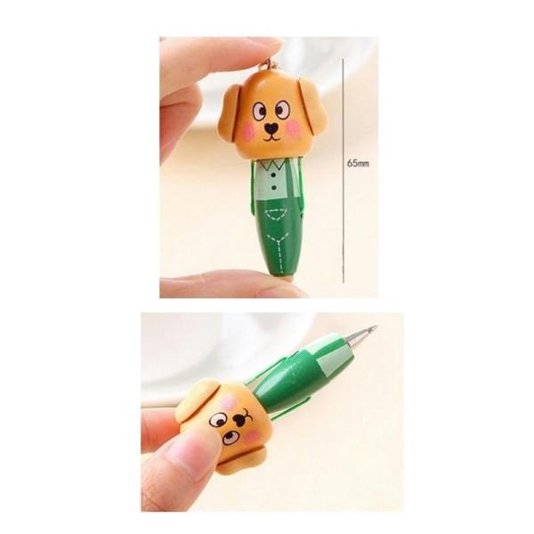 Mini stylo à bille chien en bois - Photo n°1