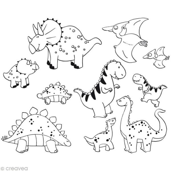 Kit 10 tampons enfant Stampo'minos Dinosaures - Photo n°2