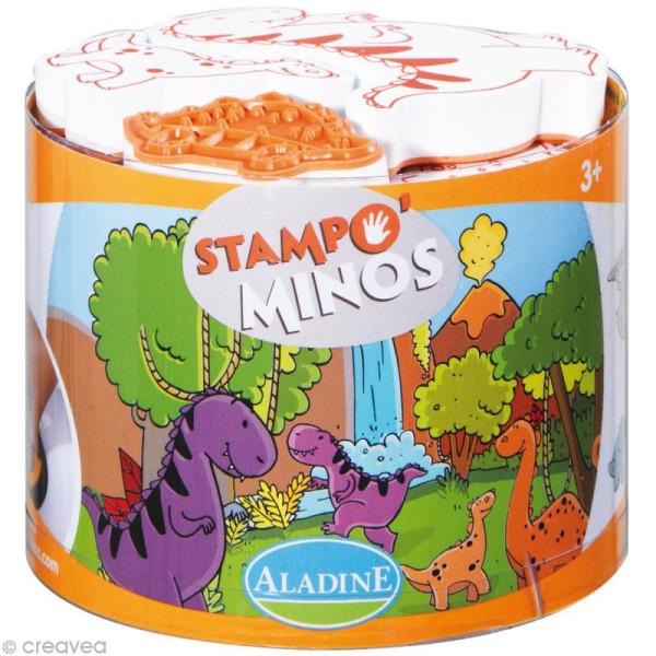 Kit 10 tampons enfant Stampo'minos Dinosaures - Photo n°1