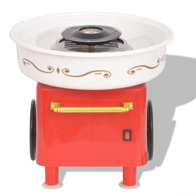 Vidaxl appareil barbe papa avec roues 480 w rouge for Appareil de cuisine thermomix