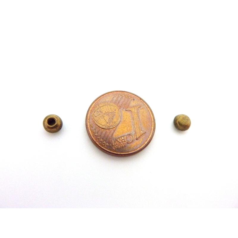 25 perles embout de finition pour cordon de 1 5mm en m tal for Finition interieur