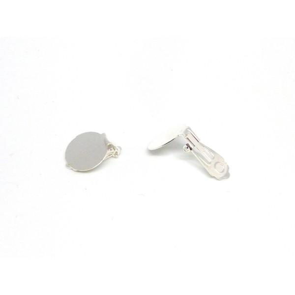 Lot de 10 pi/èces 5 paires cabochons argent/é -r boucles doreilles 14 mm x 10 mm x 10 mm