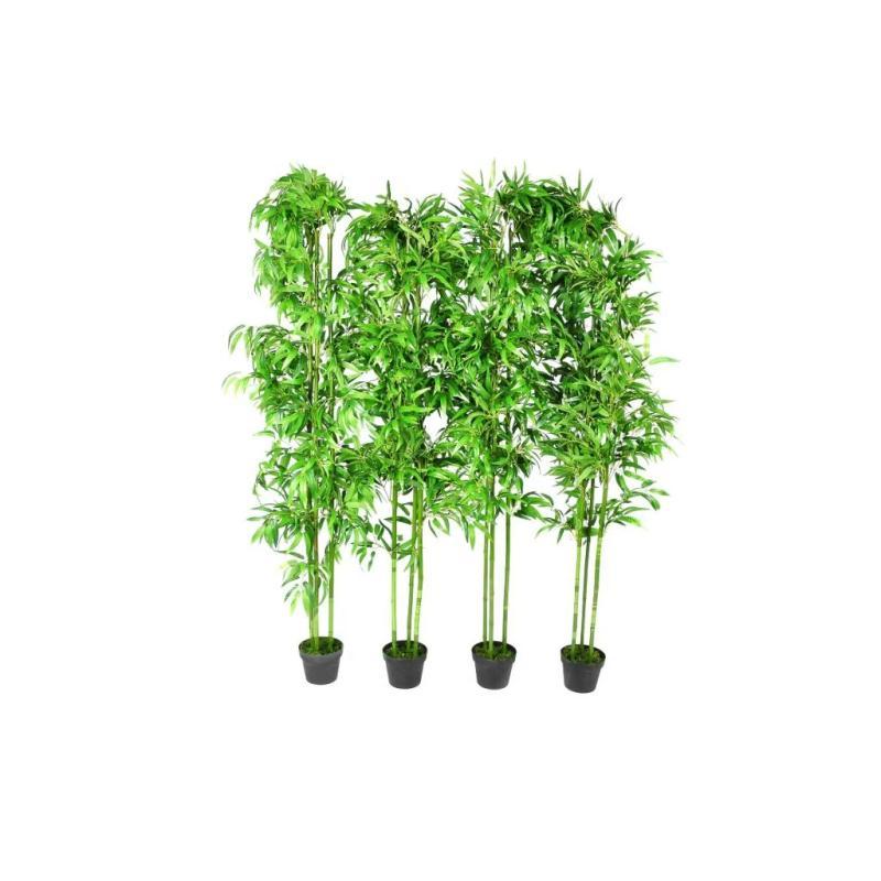Lot de 4 bambous artificiels 190cm fleurs et plantes for Acheter bambou artificiel