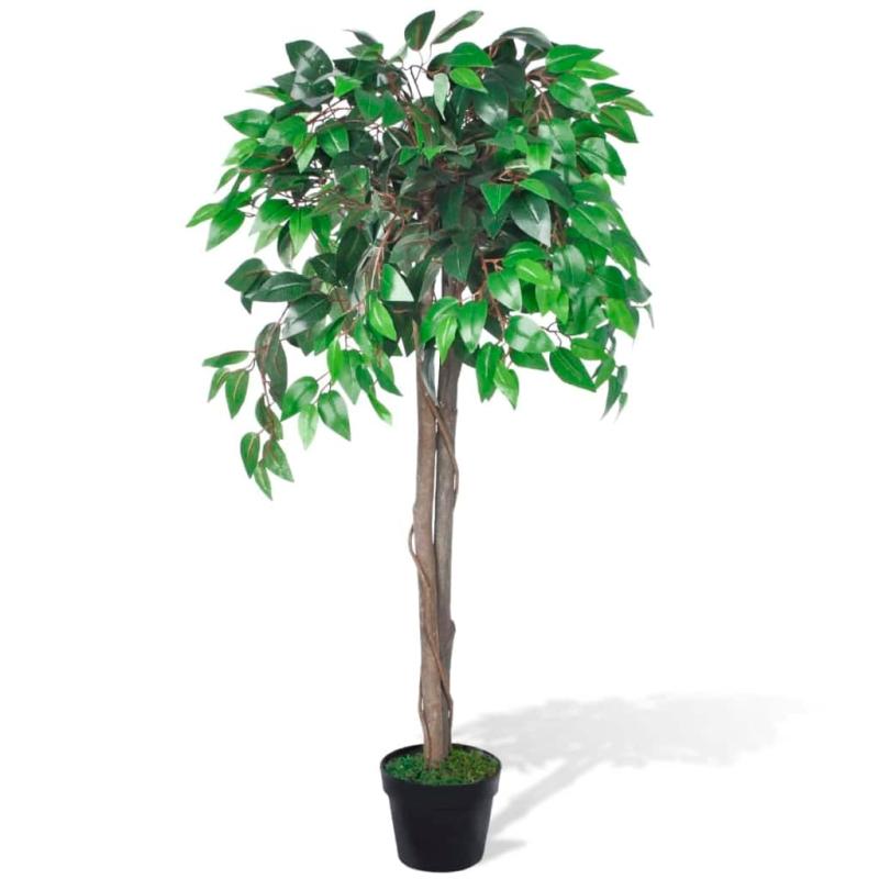 Palmier artificiel plastique avec pot 110 cm fleurs et for Acheter palmier artificiel