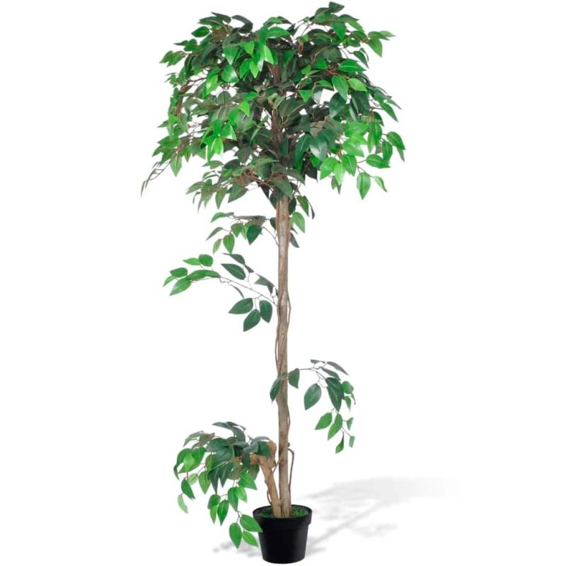 Palmier artificiel plastique avec pot 160 cm fleurs et for Palmier plastique ikea