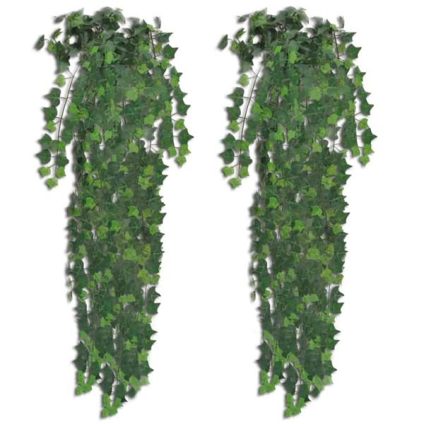 2 Pcs Lierre Artificiel Vert 90 Cm - Photo n°1