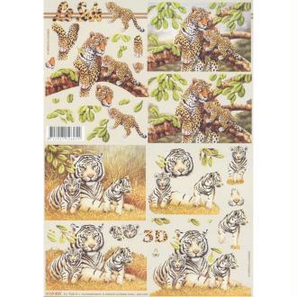 Feuille 3D à découper A4 Tigre Panthère
