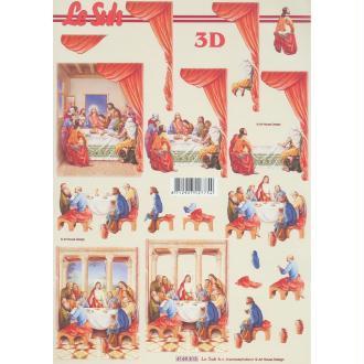 Feuille 3D à découper A4 Scène Religieuse