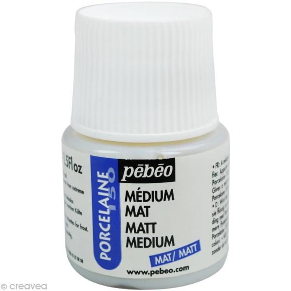Médium mat pour peinture porcelaine P150 - 45 ml - Photo n°1