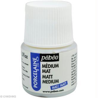 Médium mat pour peinture porcelaine P150 - 45 ml