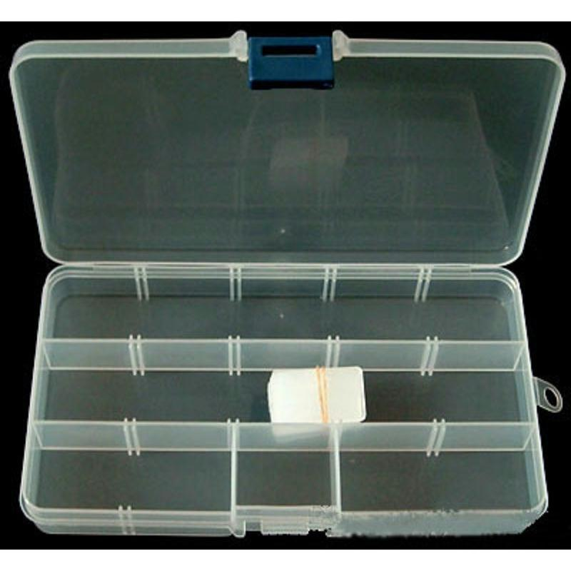 Boite vide plastique rectangle 17 10cm boite rangement for Boite a couture plastique