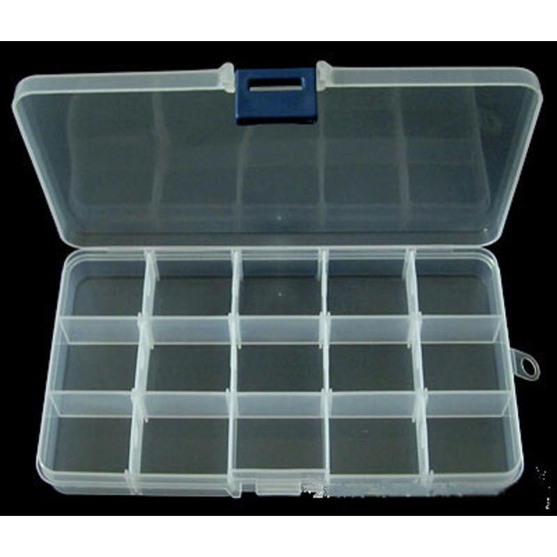 Boite vide plastique rectangle 17 10cm boite rangement for Rangement couture plastique